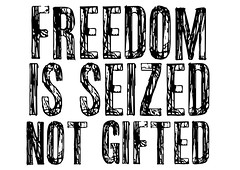 Freedom is seized (Teacher Dude's BBQ) Tags: designoster stampposteractivism screensavers