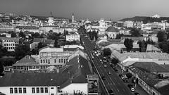 Cluj-Napoca cityscape (alxandru555) Tags: street city blackandwhite bw landscape cityscape fuji romania fujifilm cluj clujnapoca clasic x100