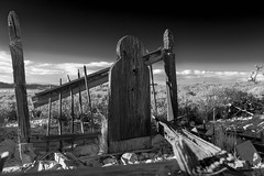 Cemetery Fence (joeqc) Tags: nv nevada delamar ghosttown 6d bw blancoynegro greytones ef2470f28l abandoned funeral