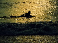 surf (g ) Tags: ocean morning sea summer people sun reflection luz sol beach sports water silhouette sunrise photography mar agua surf bright playa verano deportes manana brillo veraneo