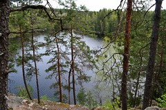 A lookout post along Haukankierros trail, Nuuksio national park (NW corner of Haukkalampi, Vihti, 20120520) (RainoL) Tags: lake forest finland geotagged spring may v fin nuuksio 2012 uusimaa vihti 201205 haukkalampi nuuksionationalpark 20120520 lakesofnuuksio fl20140812 geo:lat=6031099200 geo:lon=2450304900