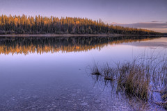 Pine Lake last light HDR (useless no more) Tags: sunset lake pinelake canadiannorth northerncanada scottlough