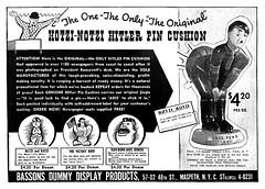 hitler pin cushion 1942 (Al Q) Tags: pin hitler 1942 cushion