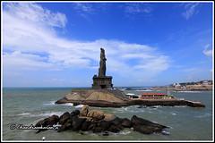 5533 - Thiruvalluvar statue at Kanyakumari-   (chandrasekaran a 34 lakhs views Thanks to all) Tags: india kanyakumari thiruvalluvar staue thirukkural canoneos760d