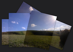 On Dragon Hill (Jim Davies) Tags: cameraphone collage digital picasa photomontage joiner whitehorse uffington dragonhill nokiaasha201
