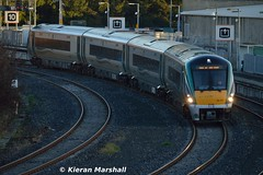22017 at Islandbridge Jn, 7/10/15 (hurricanemk1c) Tags: dublin irish train rail railway trains railways irishrail rok rotem heuston 2015 icr iarnród 22000 22017 éireann iarnródéireann 4pce islandbridgejunction connollyheuston