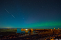 Aurora and a Meteor taken in Buckie,Moray. 1/10/15 at 22:53 (sean.pirie2) Tags: sky scotland nikon october exposure 1st north sigma east aurora second 20 shipyard 1020mm meteor buckie 2015 auk d3200