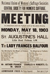 Suffrage meetings and events: Central Society For Women's Suffrage: A Public Meeting In Connection With The Fulham Constituency Work18 May 1903
