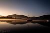 Levé de soleil sur le lac du Salagou