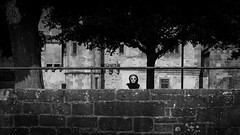 Big Brother (parenthesedemparenthese@yahoo.com) Tags: dem allemagne alone bn bw blackwandwhite blancetnoir castle chateau ete femme frankfurt germany heidenberg lookingat monochrome nb noiretblanc observed observ trees woman arbres canoneos600d day ef50mmf18ii exterieur journee lunettesdesoleil mur muslim musulmane observant outdoors seule summer sunglasses wall
