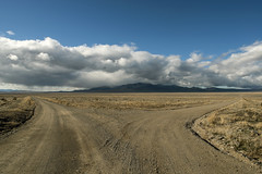 Fork in the Road (Curtis Gregory Perry) Tags: road blue sky panorama mountains clouds utah fork intersection gravel