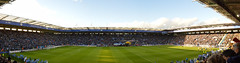 Helicopter delivers matchball (lcfcian1) Tags: city uk england panorama sports sport flying football chopper king power 21 stadium pano leicester panoramic helicopter premier league watford wfc premiership bpl epl leicestercity lcfc watfordfc 71115 defencehelicopterflyingschool zj237 kingpowerstadium leicestercity21watford71115