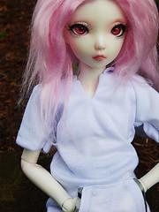 Bored (pandakinn) Tags: pink white male ball hair diy eyes doll skin fluid wig mohair mio albino bjd fairyland gender joint jointed balljointeddoll recast minifee
