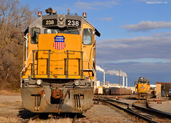 "UP Quindaro Yard in Kansas City, KS (""Righteous"" Grant G.) Tags: city railroad up yard train power pacific union railway trains southern sp kansas locomotive mp mop mopac espee"