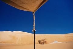 Mauritania (denismartin) Tags: africa travel shadow sky sahara weather trek sand alone desert dunes tent afrika lonely wste atar mauritania mauritanie erg   canoneos500 chinguetti  ergouarane  denismartin    mrtny argenticpic lagueila