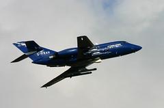 G-FRAH Falcon 20 Cobham (Ayrshire Aviation Images) Tags: falcon20 cobham gfrah prestwickairport dassault militaryjet ukmilitary