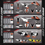 """New Semi Custom Graphic Kit - FAMmx Design KTM Fade Graphics. Check out our website at www.fammx.com for other graphic kits and more information. <a style=""""margin-left:10px; font-size:0.8em;"""" href=""""http://www.flickr.com/photos/99185451@N05/29672493033/"""" target=""""_blank"""">@flickr</a>"""