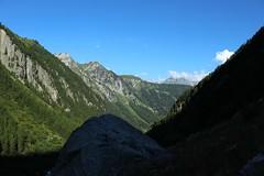 le soleil arrive.... (bulbocode909) Tags: valais suisse trient montagnes nature forts arbres nuages paysages vert bleu
