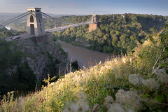 Hanging Over The Edge (Paul C Stokes) Tags: clifton suspension bridge cliftonbridge cliftonsuspensionbridge bristol bristolcity uk united kingdom sw south west southwest unitedkingdom river riveravon gorge high tide hightide sunrise early start morning golden hour goldenhour isambard brunel isambardkingdombrunel grass sun lit sunlit foreground sonya7r sony a7r 1635 zeiss hand held handheld lee filter leefilter 9 grad 9grad 9gradlee composition