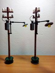 WW2 Dora's diorama update 1 : (ravescat) Tags: dora moc lego telephone poles street lighting ww2 german