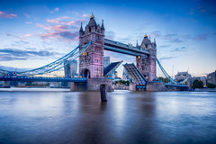 On ice (lloydich) Tags: tower bridge river thames ice water sky sunset clouds london