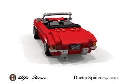 Alfa Romeo Duetto Spider (Series 105 / 115) (lego911) Tags: alfa romeo spider series 105 115 duetto 1960s classic dustin hoffman graduate 1966 auto car moc model miniland lego lego911 ldd render cad povray italy italian movie film lugnuts challenge 107 saturdaymorningshownshine saturday morning show n shine