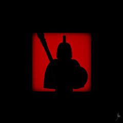 Shadow (257/100) - Sparta (Ballou34) Tags: 2015 650d afol ballou34 canon eos eos650d flickr lego legographer legography minifigures photography rebelt4i stuckinplastic t4i toy toyphotography toys rebel stuck plastic photgraphy 2016 blackwhite light shadow enevucube minifigure 100shadows sparta spartan warrior roman roma shield spear