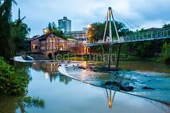 timb-0054 (iedafunari) Tags: timb santa catarina brasil tapyoka represa rio benedito passarela anoitecer ponte enxaimel