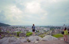 From the top of Plovdiv (Stephanie Overton) Tags: plovdiv bulgaria europe travel film 35mm pentax epson scan hill view green tree top rock