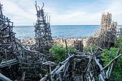 Nimis (wooden art sculpture) (www.carbonat380.de) Tags: 4056 918 918mm gx7 hdr landscape lumix mzuiko mft microfourthirds nimis olympus panasonic skagerrak art sweden travel travelphotography wooden