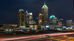 Atlanta, GA: Midtown skyline at night (nabobswims) Tags: atlanta georgia hdr highdynamicrange lightroom midtownatlanta nabob nabobswims night photomatix skyline skyscraper sonya6000 us unitedstates selp1650