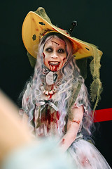 Kawasaki Halloween 2016 #KAWAhallo (DigiPub) Tags: kawasaki halloween makeup costume japan 109689191 adult adultsonly annualevent blood cosplay death hat lookingatcamera periodcostume photography portrait stagecostume stagemakeup traditionalclothing vertical youngadult youngwomen zombie