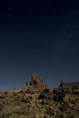 Ghosting (totufin) Tags: airelibre cielo estrellas afterdark stars sky nocturna teide caadas roquesdegarca