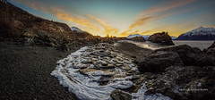 Beluga Point, AK (Traylor Photography) Tags: alaska spreadyourwings sunrise water mountains panorama onthebeach waves belugapoint tide turnagainarm wideangle rocks colors clouds sewardhighway snow ice anchorage unitedstates us