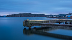 Quiet Reflections (Normann Photography) Tags: 181sec 3minutes holmestrand amoment bluehour concrete harbor harbour industry molo pier reflections sea vestfold norway no nopeople urbanseascape blue lines