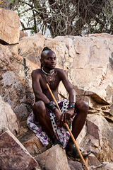 Unmarried Himba Man 4027 (Ursula in Aus) Tags: africa namibia offcameraflash himba portrait male