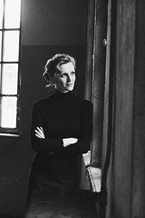Pauline (graigue | http://www.graigue.com) Tags: graigue strasbourg alsace france bw monochrome blanc noir blanco negro woman portrait portraiture coop ilford