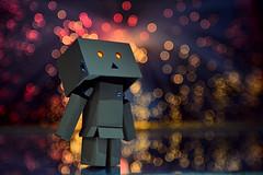 Stargazing Danbo (RolandHut) Tags: danbo stars stargazing bokeh star night miniature toy toys macro contrast colorful