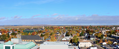 Moncton Fall foliage pano No. 2 (Trevdog67) Tags: moncton fall autumn tree trees colours city buildings october 2016 elevated view red yellow newbrunswick nouveaubrunswick nb411 canada nikon d7100 nikkor 18300mm hdr panorama