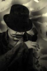 esclavo del silencio (Mauricio Silerio) Tags: selfportrait self selfie silence hat crow time clock clocks portrait wizard shaman sony alpha a5000 psd cc fashion surreal surrealism surrealisme surrealismo fantasy dream dreaming dreamer nightmare