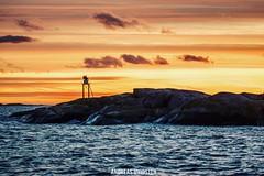 Lighthouse (AndreasHvidsten) Tags: light lights lighthouse norway ocean sea water nikon nikond5500 sigma sunset sunlight sun clouds cloud