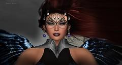 673 - Fallen Angel (Sannita_Cortes) Tags: secondlife sl styles virtualworld virtualfashion fashion female ikon paperdoll tableauvivant tiffanydesigns tabouirresistible halloween angel fallenangel