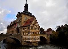 DSC_0807 (me222222222222222222222222) Tags: germany bamberg rathaus town hall baroque river bridge island