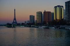 Colors in Paris (maiteddn) Tags: seine paris toureiffel eiffel tower colors sky ciel sunset reflets reflections couleurs