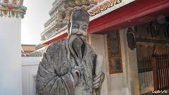 Statue at Wat Pho, Bangkok (Ld\/) Tags: wat pho watpho chinoise statue stones temple bangkok thailande thailand boudhisme bouddha asia asian history