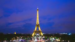 La Tour (Luis Andrei Muoz) Tags: france francia leica leicaq paris torre toureiffel trocadro clouds nuages tower 16x9