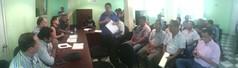 Reunión en oficinas de Tuxtepec para brindar atención al conflicto suscitado en Jalapa de Diaz referente al tema de transporte