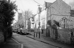 The Artichoke P.H., Moulton (DH73.) Tags: artichoke pub moulton church street northamptonshire olympus 35rc ilford delta 400 id11