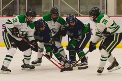 Random symmetry...odd (R.A. Killmer) Tags: sru hockey fast skate skill save skater talented ice green white stick college acha