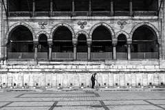 yeni cami (Berkan Byktmbk) Tags: street streetphotography streetphoto streetphotobw fujifilm xt1 bw blackandwhite monochrome mosque window door geometry man people human outdoor